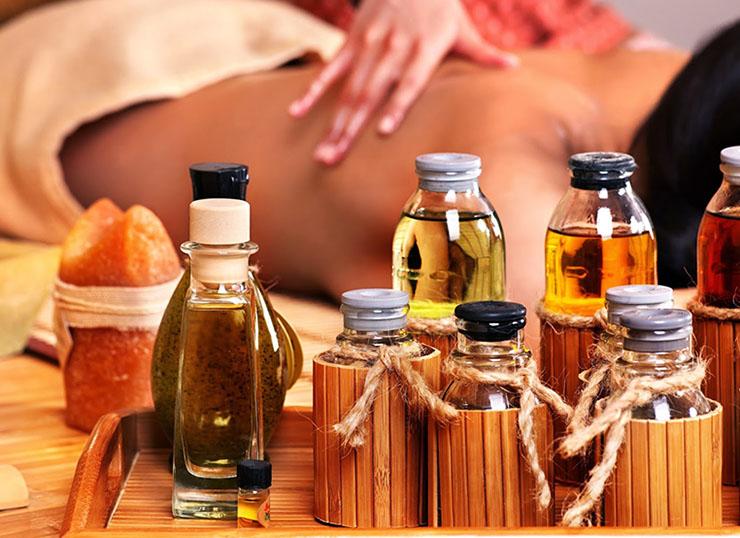 Массаж для похудения с эфирными маслами